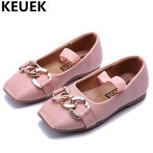 NEW Spring/Autumn Single Shoes Children Black Leather Shoes Girls Princess Comfortable Casual Dane Shoes Kids Flats 044