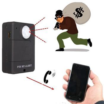 LESHP мини ПИР сигнализации Сенсор A9 Инфракрасный GSM Беспроводной сигнализации Высокая чувствительность монитор обнаружения движения Anti-theft ...