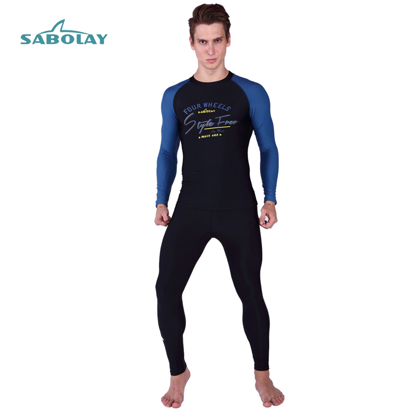 Rashguard Surf Men Clothing Long Sleeves Swimwear Long Pants Diving Suits Suit Shirt Kitesurf Men Rash Guard Anti-UV UPF50+