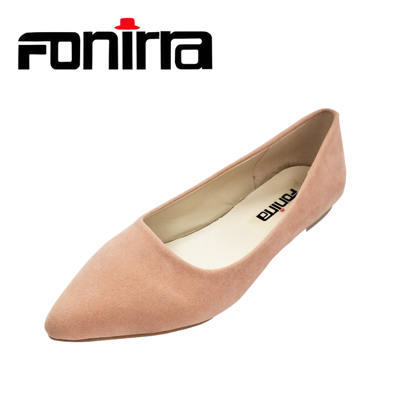 FONIRRA Women Flats Pointed Toe Ladies Chaussure Sapatos Black Casual Shoes Alpargatas Loafers Ballet zapatos mujer 017 flock women flats 2017 pointed toe ladies single shoes fashion shallow casual shoes plus size 40 43 small yards 33 sapatos
