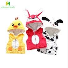 Одежда для новорожденных; Высококачественный хлопковый жилет с капюшоном для малышей от 0 до 18 месяцев; куртка для младенцев; утепленное пальто без рукавов для малышей