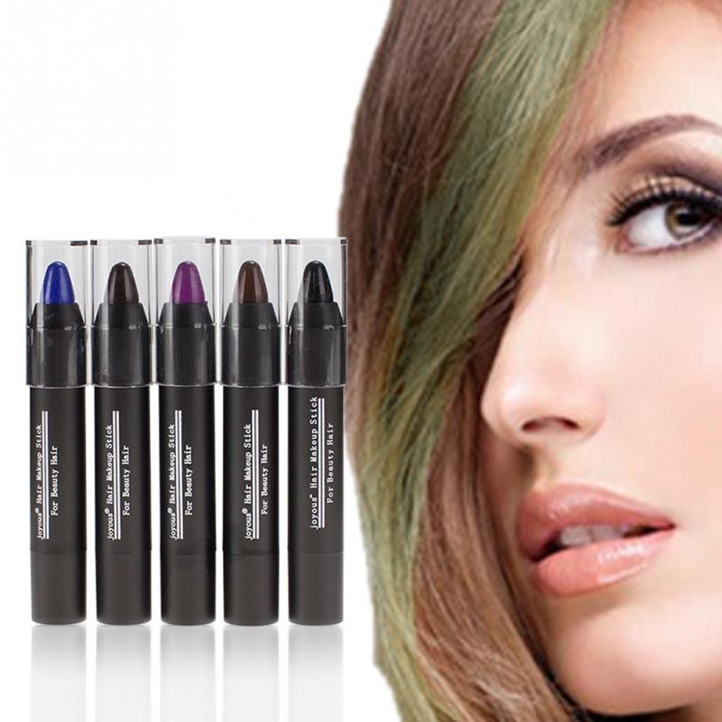hot 5 colors one time temporary easy hair dye rapid repairing black at once hair - Hair Color Pen