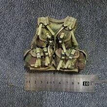 1/6 Jungle Camouflage Green Tactical Vest Models