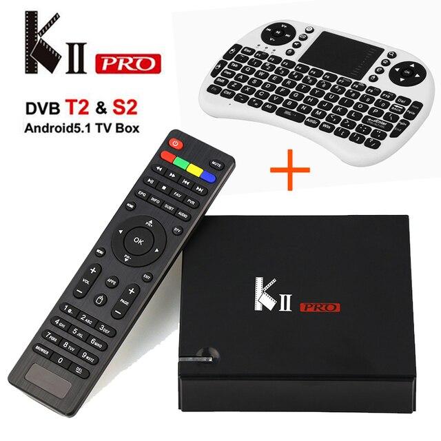 KII PRO Caixa De Tv DVB-T2 DVB-S2/T2 2 GB/16 GB Android 5.1 Tv Box + Mini Teclado I8 S905 Amlogic Quad-core Bluetooth Wi-fi 4.0 TV caixa