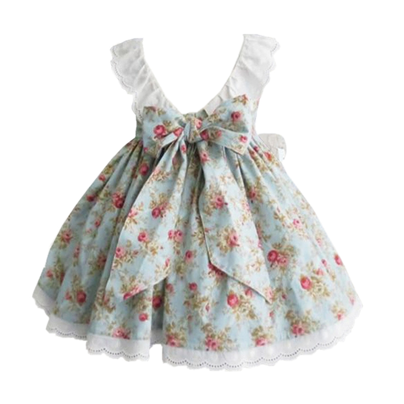 Infant Girls Dresses Summer 2017 Floral Party Dresses For Girl Children Princess Costume Kids Clothing Vestido Child Clothes summer girls dress 2017 stripe dresses for girl with headband kids clothing infant princess children vestidos kids clothes