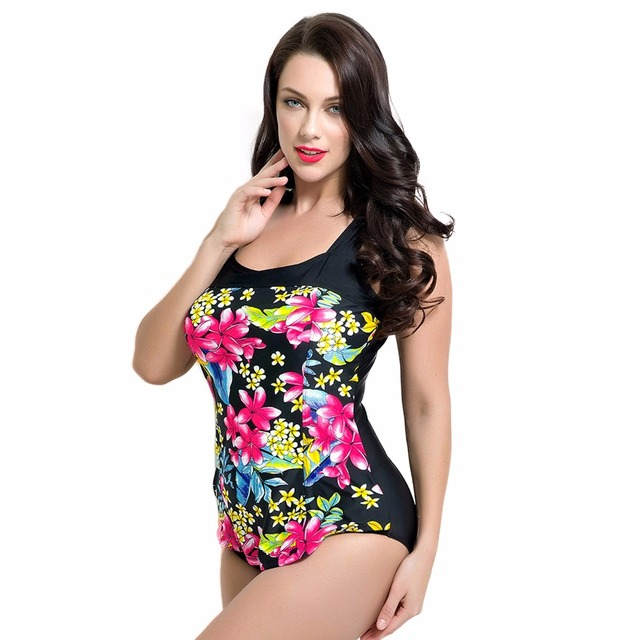 82ef4baa3ba7a Sports One Pieces SwimSuits Plus Size Swimwear Bathing Suit Swimsuit  Monokini Women Push Up Backless Padded Floral One-Piece 6xl
