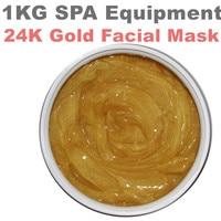24 k Máscara de Ouro Máscara Facial Anti-rugas de Clareamento Hidratante Ageles Equipamentos Hospitalares 1000g Salão de Beleza SPA Produtos