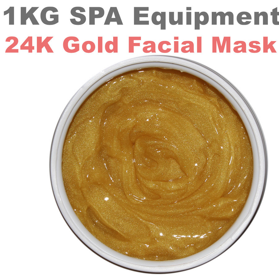 24k Gold Facial  Mask Anti-wrinkle  Whitening Moisturizing Ageles Mask Hospital Equipment 1000g Beauty Salon  SPA Products 1000g spa quality collagen whitening mask soft powder peel off facial treatment