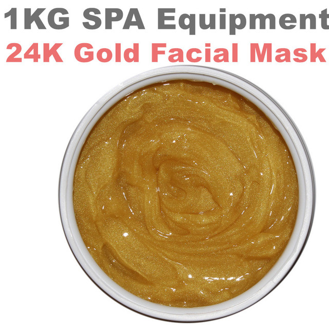 24k Gold Facial  Mask Anti-wrinkle  Whitening Moisturizing Ageles Mask Hospital Equipment 1000g Beauty Salon  SPA Products