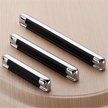 2.5 3.75 5 Modern Dresser Pulls Drawer Handles Knobs Black Silver Chrome Kitchen Cabinet Door Handle