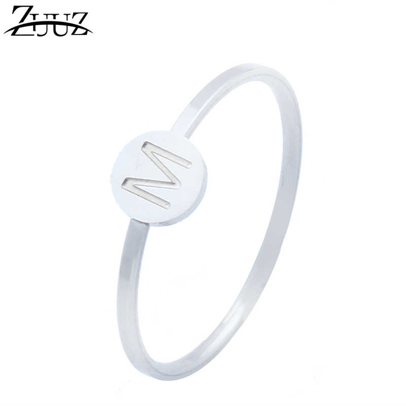 ZUUZ female love engagement mood silver finger ring girl fingering stainless steel rings for women girls jewelry accessories