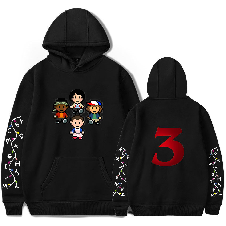 2019 Fashion Stranger Things 3S Clothing Hooded Sweatshirt hoodies Men/Women Hip Hop Pullovers Hoodies Plus Size Streetwear