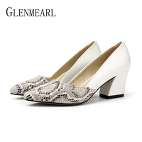 Women Pumps High Heels Shoes Woman Spring Autumn Pointed Toe Ladies Shoe Platform Soft Leather Sexy Office Wedding Shoes Female
