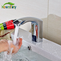 Wholesale And Retail Brass Chrome Finish Automatic Sensor Tap Free Bathroom Free Handle Cold Faucet
