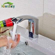 Al por mayor Y Al Por Menor de Latón Cromado Grifo Sensor Automático de Baño Libre del Envío Manija Grifo de Agua Fría