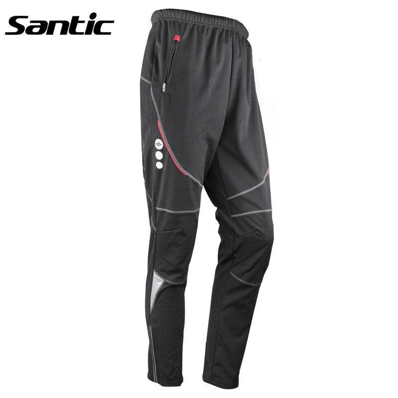 SANTIC Winter Hiking Pants Fleece Thermal Windproof Breathable Trouser Bicycle Cycling MTB Pants Riding Skiing Men Outdoor Sport hot new 2017 winter cycling pants warm up fleece thermal bicycle mtb mountain bike pants waterproof windproof sports