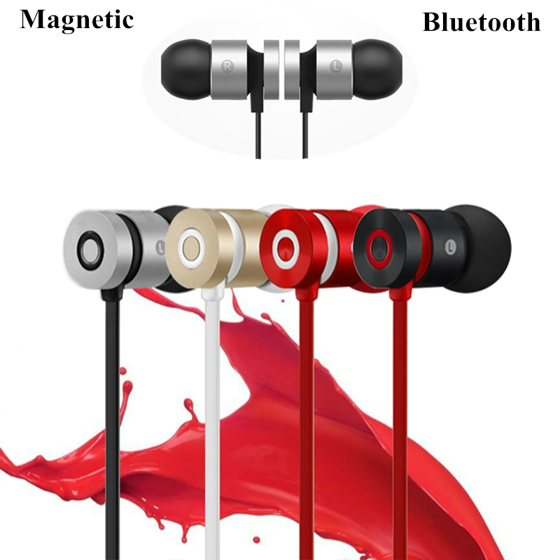 Strong Magnetic materials handsfree Wireless headphones bluetooth earphone super bass sport headset Earpiece 3D Stereo earbuds marsnaska wireless handsfree headphones stereo earphone bluetooth headset single channel mic earpiece for samsung hm7000