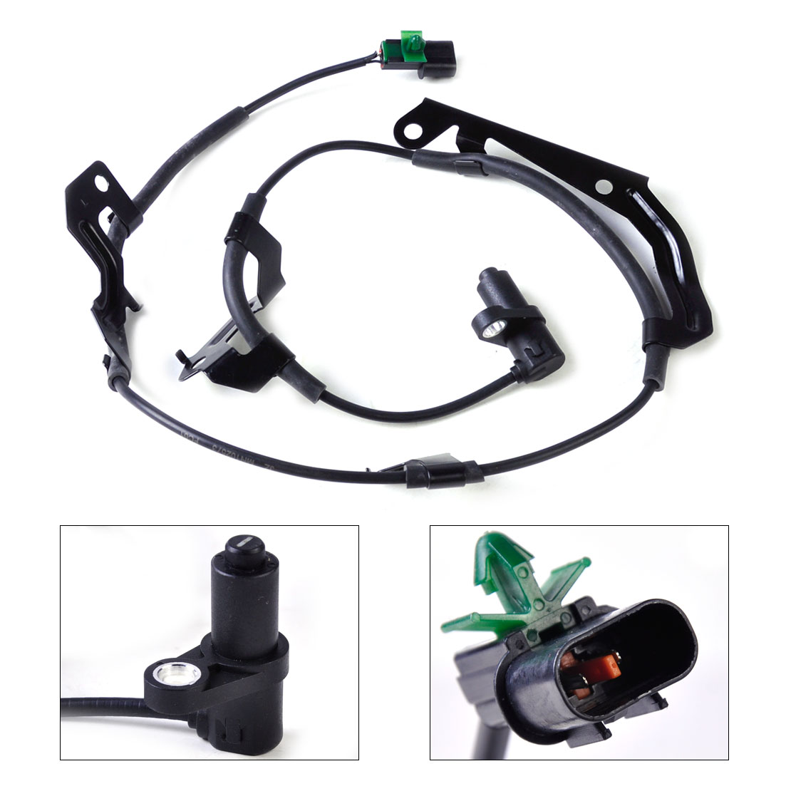 CITALL 1Pc Black Color Front Left ABS Wheel Speed Sensor MN102573 fit for Mitsubishi L200 2010 2011 2012