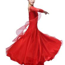 plus size red pink black Ballroom Dress Viennese standard ballroom plus size ballroom dance dresses  tango costumes