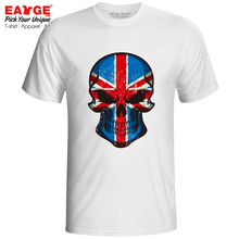 Mysterious Smile From UK Skull T-shirt Great Britain Punk Cool Cartoon Design Funny T Shirt Anime Active Pop Women Men Top
