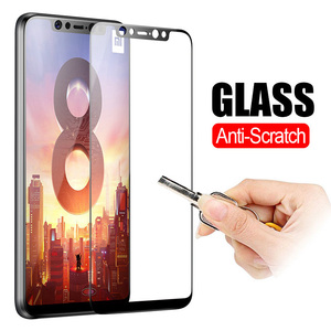 3D Original For Xiaomi mi 8 Lite 9 A2 Light My 9T A3 mi9t 9H Tempered Glass For Xiomi Redmi Note 7 8 Pro Global Screen Protector(China)