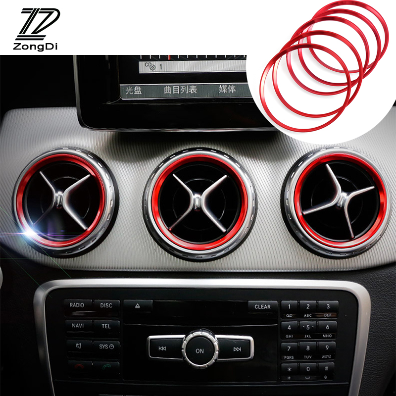 Car Styling Air Condition Air Vent Outlet Ring Cover Trim Decoration For Mercedes Benz A B Class W246 W176 AMG Accessories
