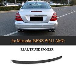 Tylne skrzydło spojler bagażnika Boot Spoiler dla Mercedes Benz W211 E klasa 2003-2009 E320 z włókna węglowego