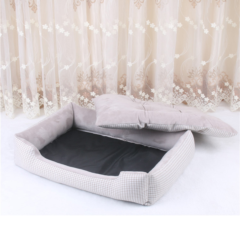 Soft Pet Dog Bed Mats House Stripped Pattern Detachable Dog Beds For Large Dogs Cats' House Pet Pad Kennels Products For Dogs #2