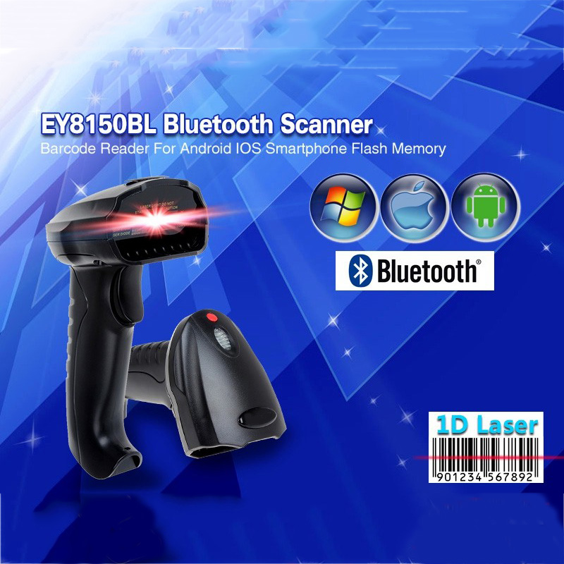 Free Shipping!EY8150BL New Wireless Bluetooth 1D Barcode Scanner Mini Barcode Reader for iOS, Android Windows System Bar Scanner g6 tactical smartwatch