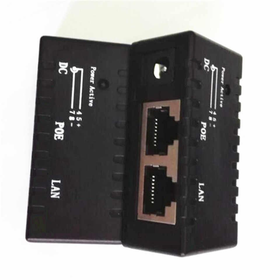 Hot cała sprzedaż luzem sprzedaż czarny 10 sztuk/partia wtryskiwacz POE władzę nad adapter sieci Ethernet do kamery IP, telefon IP, CCTV AP