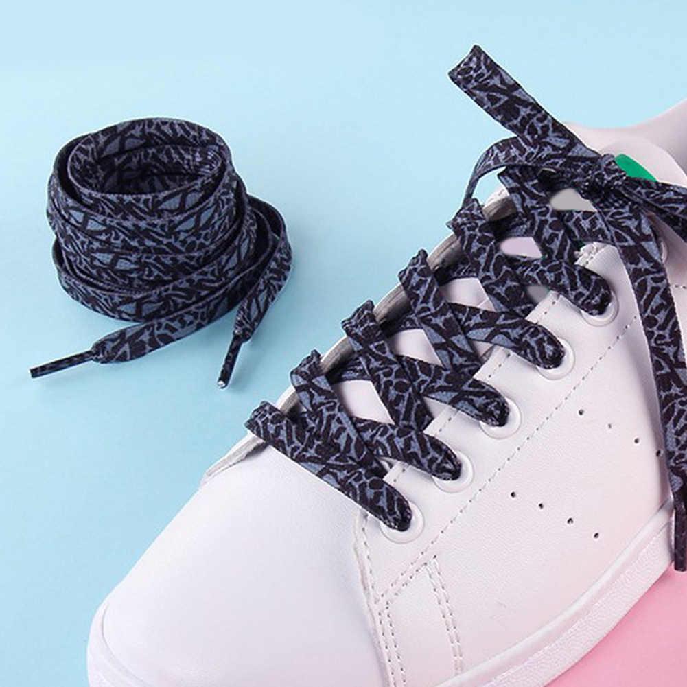 Kadın baskılı düz ayakkabı bağı sneaker dekorasyon desen renkli ayakkabı danteller dizeleri ayakkabı bağı İngiltere ayakkabı dantel dizeleri aksesuarları