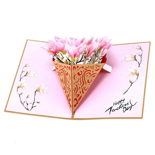 3d pop up cards teachers day stereo greeting card magnolia bouquet 3d pop up cards teachers day stereo greeting card magnolia bouquet birthday blessing gift card festival m4hsunfo