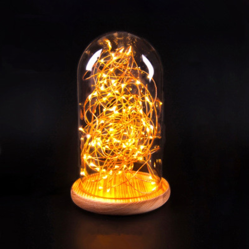 Novelty Wooden Base night Lights Table Lamps Desk Bedside Lamp for Home decor Starry LED Night Light Lamp for Christmas Gifts novelty magnetic floating lighting bulb night light wood color base led lamp home decoration for living room bedroom desk lamp