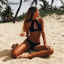 Melphieer Swimsuit Wild Black Bikini 2018 Swimwear Women Bathing Suit Bikini Push Up Women's Swimming Suit maillot de bain femme