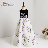 2018 Spring Collection Cute Little Flower Girls Dresses For Wedding Children Images Dress Kids Lace Black