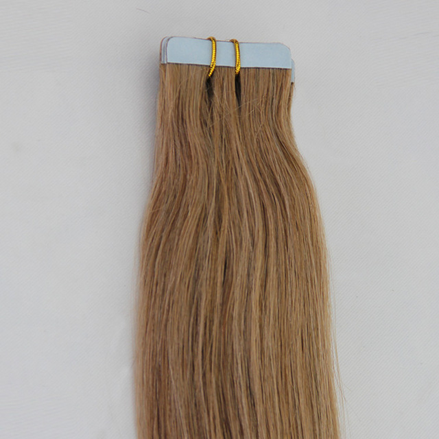 Real Human Virgin Tape Human Hair Extensions Brazilian Adhensive