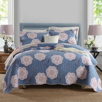 CHAUSUB 12 Pattern Quality Printed Quilt Set 3PCS Cotton Quilts Quilted Bedspread Cover Bed Sheets Pillowcase