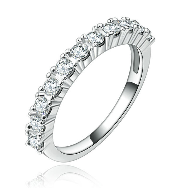 Fashion Jewelry Rings for Women White Gold Plated Rings Engagement  Wedding zirconia vintage Female Ring Accessories bijoux L255