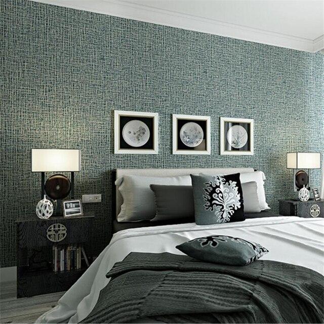 US $35.84 36% di SCONTO|Beibehang carta da parati moderna linen texture  carta da parati 3D camera da letto puro pianura soggiorno pieno di papel de  ...