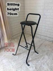 Современный складной табурет высокие ноги удобные кресла мягкий стул для человека/женщины металлический каркас вина паб стула