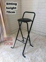 Modern Folding bar stool High foot Chair Comfortable Soft Seat chair For Man/Woman metal frame Wine pub stool