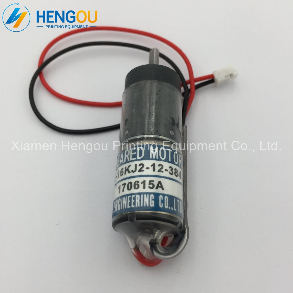 купить 2 pieces free shipping new Ryobi motor TE16KJ2-12-384 ink key motor for Ryobi printing machine по цене 9150.75 рублей