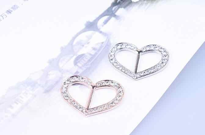 XZ 007 2018 Seksi Penjualan Kristal Jantung Syal Logam Jantung Berbentuk Gesper Klip Logam Ikat Kepala Syal Perhiasan Perhiasan Wanita aksesoris