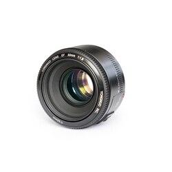 Объектив YONGNUO YN 50 мм F1.8 с большой диафрагмой, автофокус YN 50 YN50 для Nikon, для цифровых зеркальных камер Canon EOS