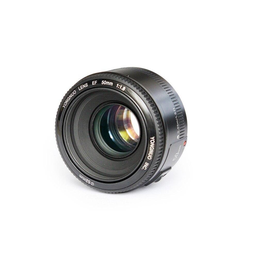 Yongnuo yn 50mm f1.8 lente grande abertura lente de foco automático yn 50 yn50 para nikon para câmeras canon eos dslr
