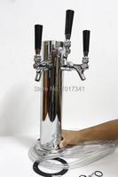 Triple Tap 3 Stainless Steel Body Beer Tower 1 4 Beer Line Include Mounting Hardware And