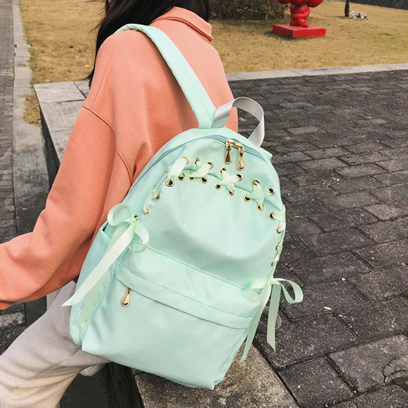 Nylon <font><b>Backpack</b></font> Wear-resistant Waterproof School Bag for Students Shopping Travel Best Sale-WT image