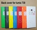 Vivienda de reemplazo para nokia lumia 730, volver batería cubierta case para nokia 735, con el botón lateral