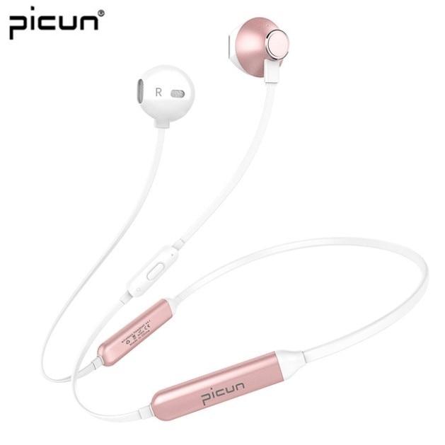 Беспроводные Bluetooth наушники Picun H12, спортивные водонепроницаемые магнитные наушники, гарнитура с микрофоном