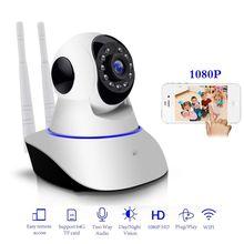 2MP HD 1080P PTZ Wifi IP Camera IR-Cut Night Vision Two Way Audio CCTV Surveillance Smart Camera SD Card View Yoosee APP цена